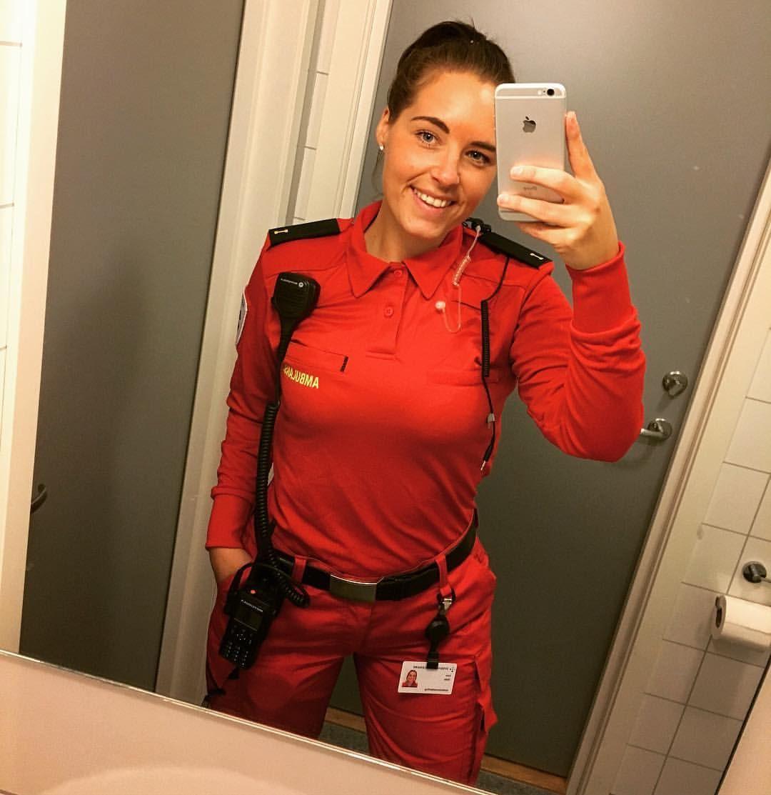 Ambulance girl emt norway female firefighter