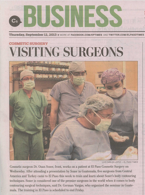 El paso cosmetic surgery and dr sozer central