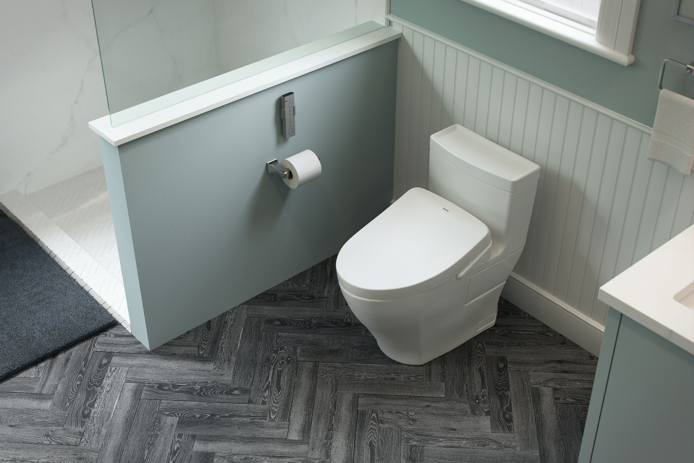 Bold Design And High Efficiency Characterize The Aimes Toilet With A Variety Of Glaze Colors This Toilet Seamlessly I Toilet One Piece Toilets Bathroom Style