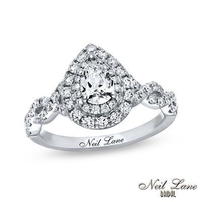 Neil Lane Bridal 174 Collection 1 1 8 Ct T W Pear Shaped
