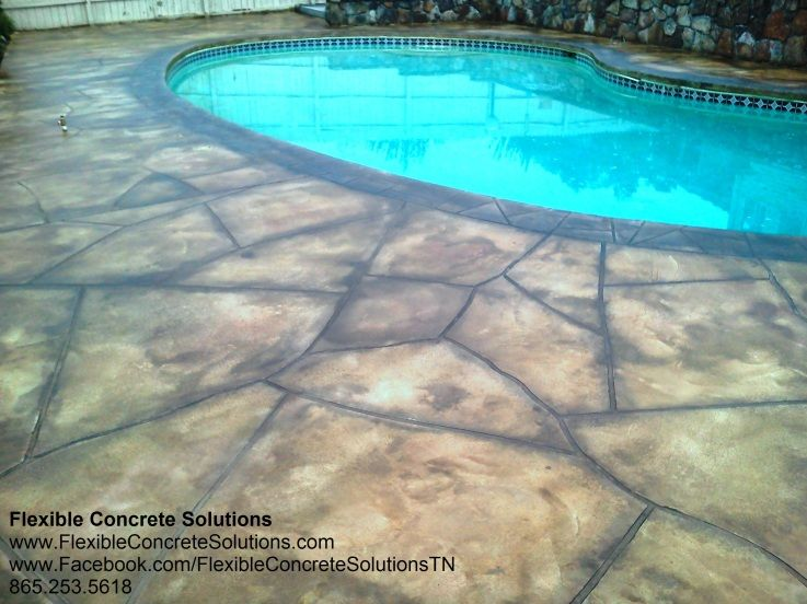 Flagstone Concrete Pool Deck Coating Knoxville Tn Would