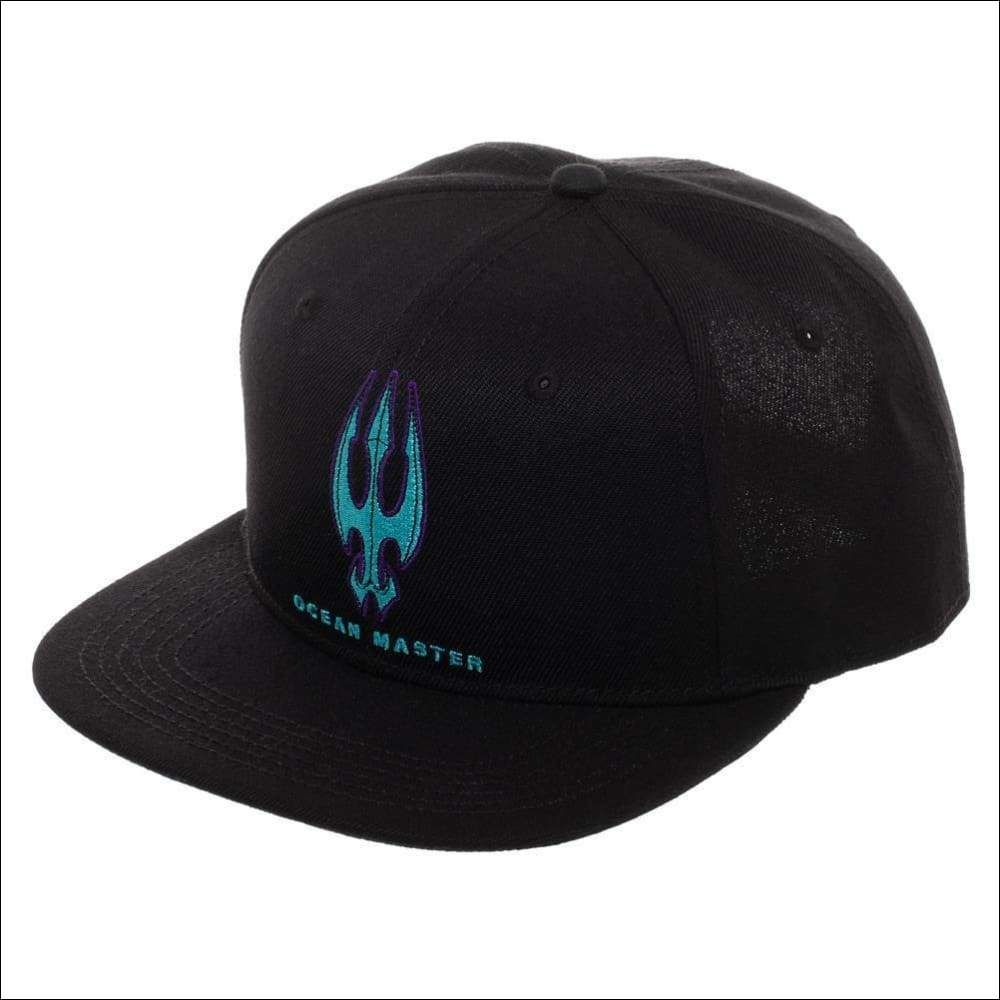Aquaman Embroidered Logo Snapback Hat Black