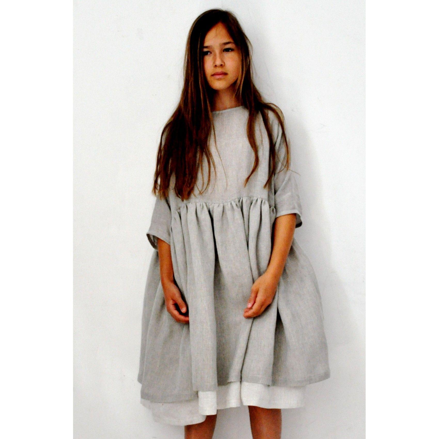 Grey pleated dress sleeves my style pinterest gray robe