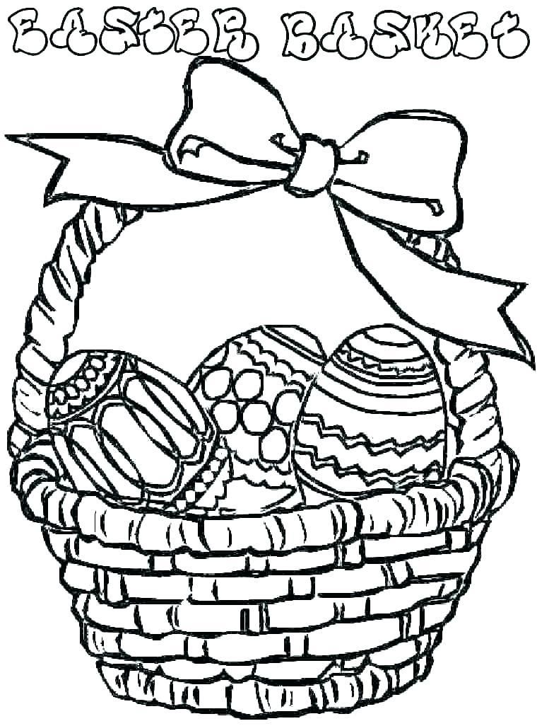 Basket Coloring Page Easter Coloring Pages Printable Easter Basket Printable Easter Colouring