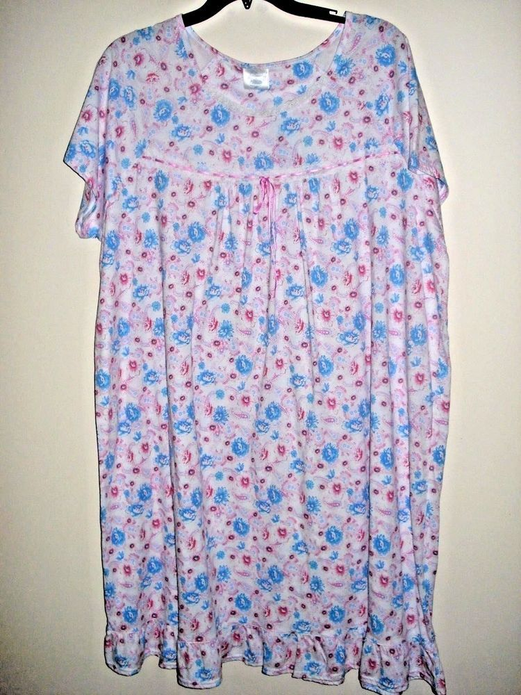 9b91a06a47639 Ladies Nightgown Pink  amp  Blue Floral Size 3XL  Fundamentals  Gowns   Everyday Nightgowns