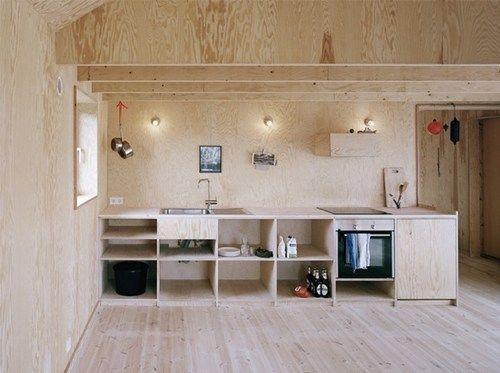 plywood-open-kitchen-johannes-norlander-arkitekturjpg (500×373 - küche aus porenbeton