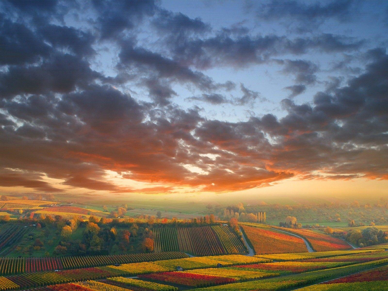 Обои Облака, осень. Пейзажи foto 15