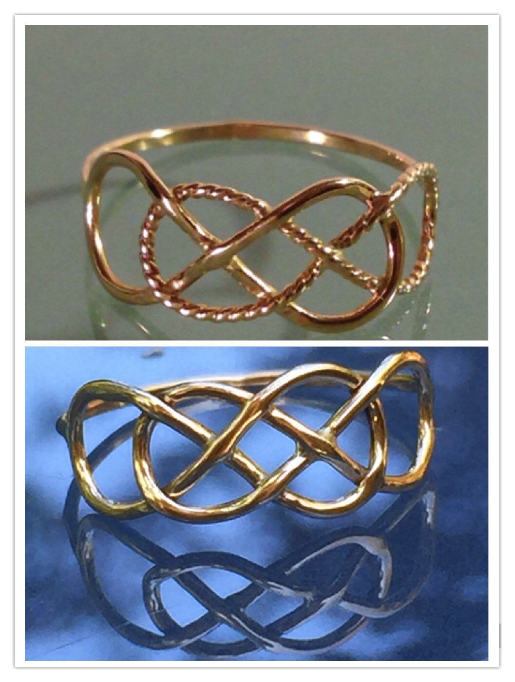 Infinity 14k Solid Gold Ring by EllynBlueJewelry on Etsy https://www.etsy.com/listing/206775005/infinity-14k-solid-gold-ring