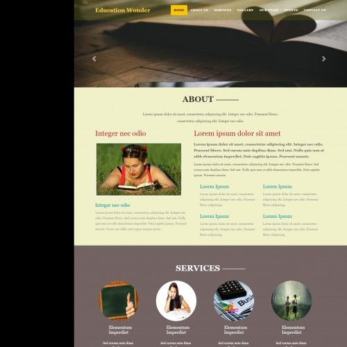 Education, Responsive, 2 Column Web Template... | Templates ...
