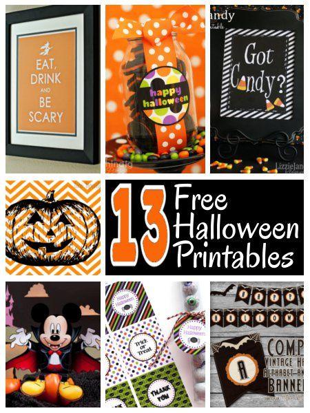 FREE Halloween Printables Holidays Fabulous FallHalloween - free halloween decorations printable