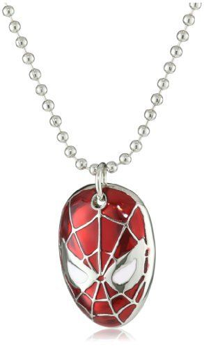 Mens necklace New Spider-Man Hero Crystal Glass Pendant Fashion Jewelry Necklace Gift