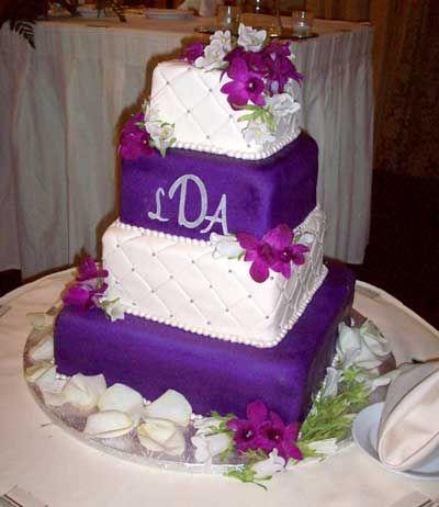 Purple Wedding Cakes   Purple and White Wedding Cake by Johnson\'s ...