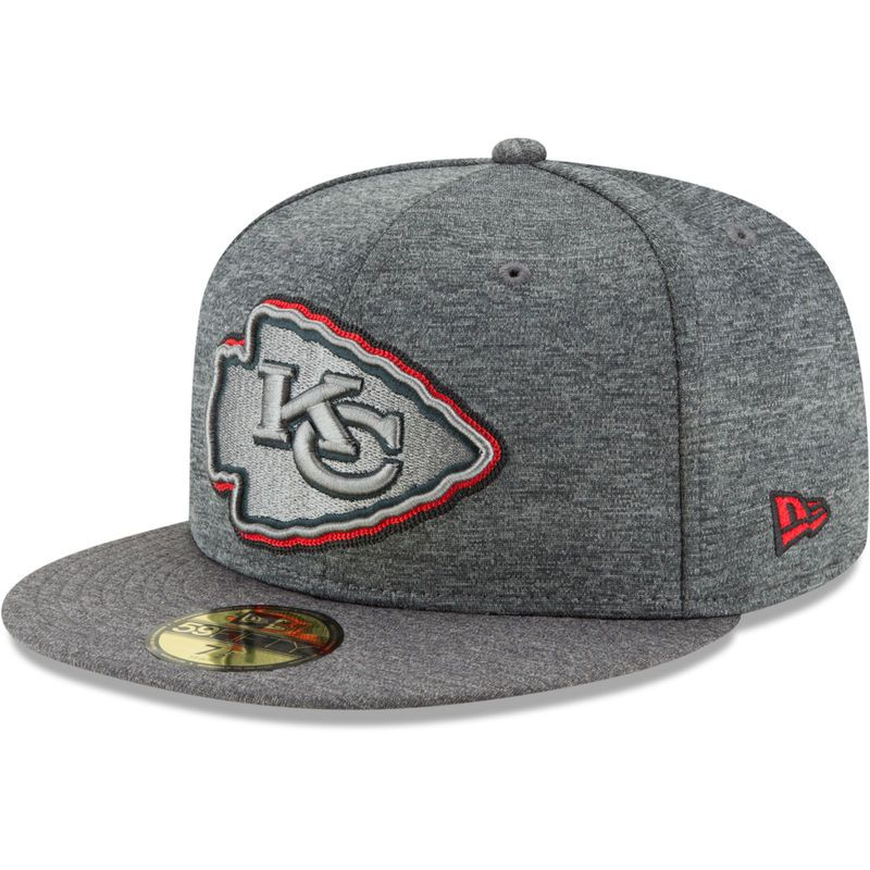 Kansas City Chiefs New Era Shadow Stitcher 59FIFTY Fitted Hat – Heathered  Gray 1635aad5e