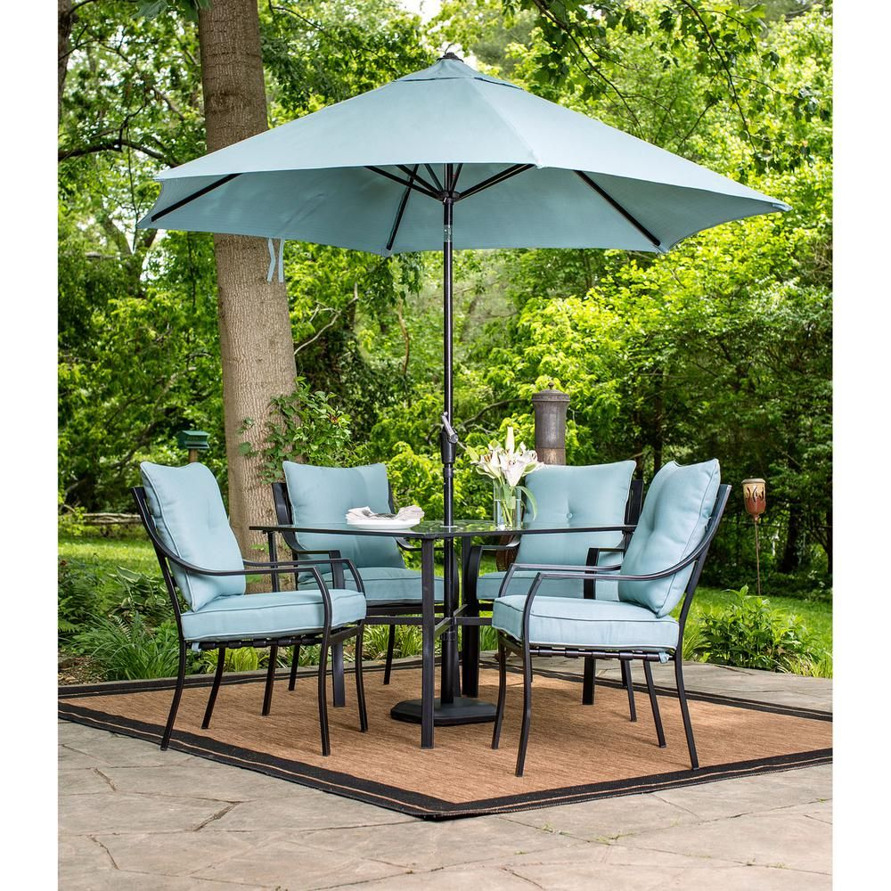 Envelor Hanover Patio Lavallette Minuit 5-Piece Steel Square ...