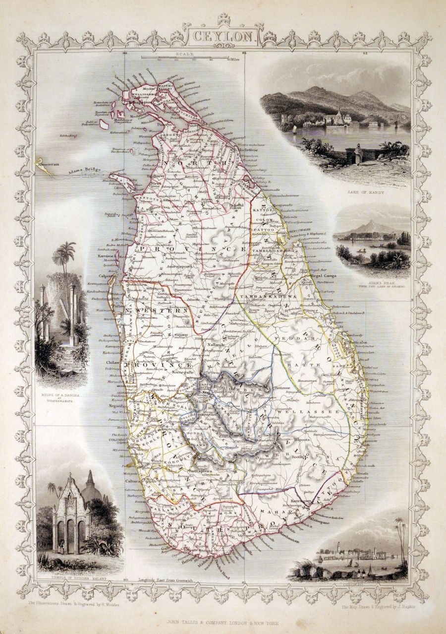 Mapa London%0A Antique maps    Ceylon  TALLIS  John  London  John Tallis  u     Co