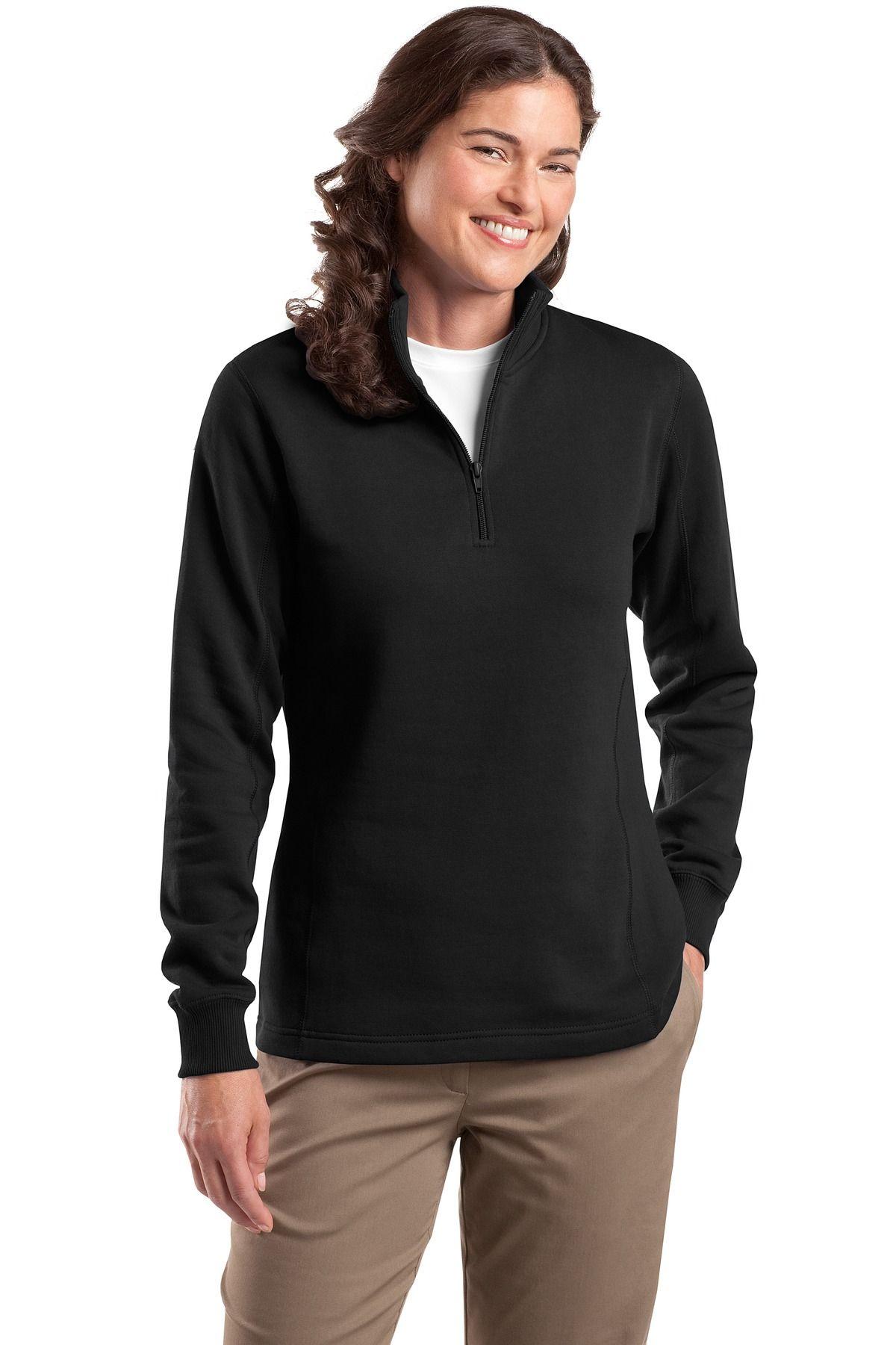 SportTek Ladies' 1/4 Zip Sweatshirt Zip sweatshirt