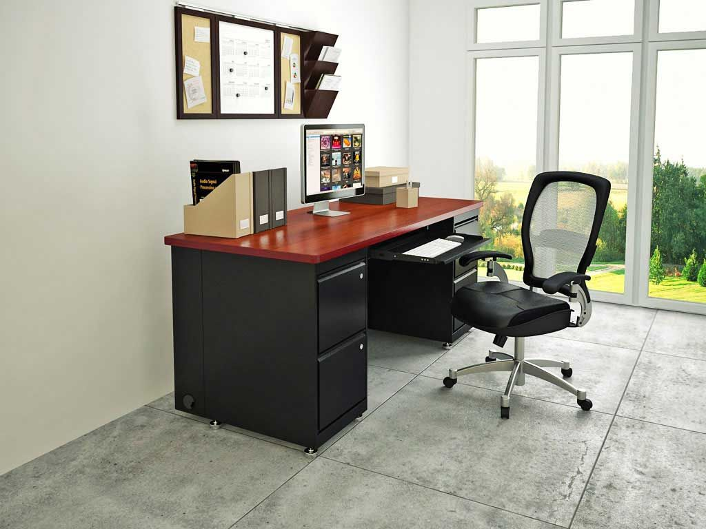 Furniture  Exquisite Home Office Workstation Furniture Design With Stunning  Black Mixed Red Wood Office Desk. Furniture  Exquisite Home Office Workstation Furniture Design With