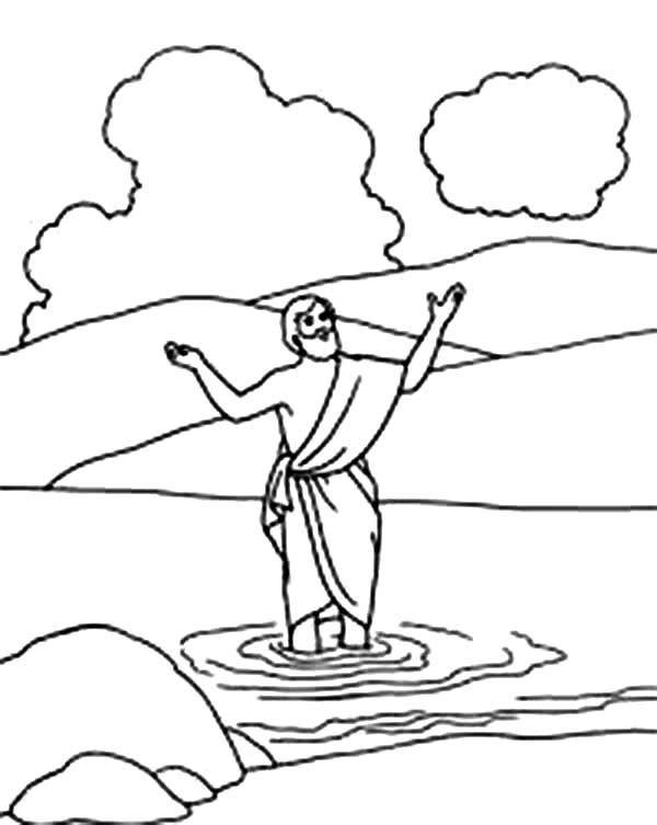 Picture Of John The Baptist Coloring Page Netart Coloring Pages Lds Coloring Pages John The Baptist