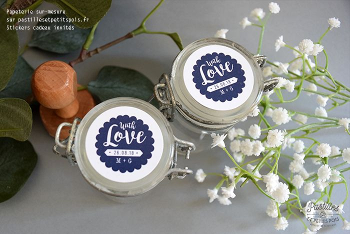 Sticker cadeau invités Une papeterie de mariage originale du save
