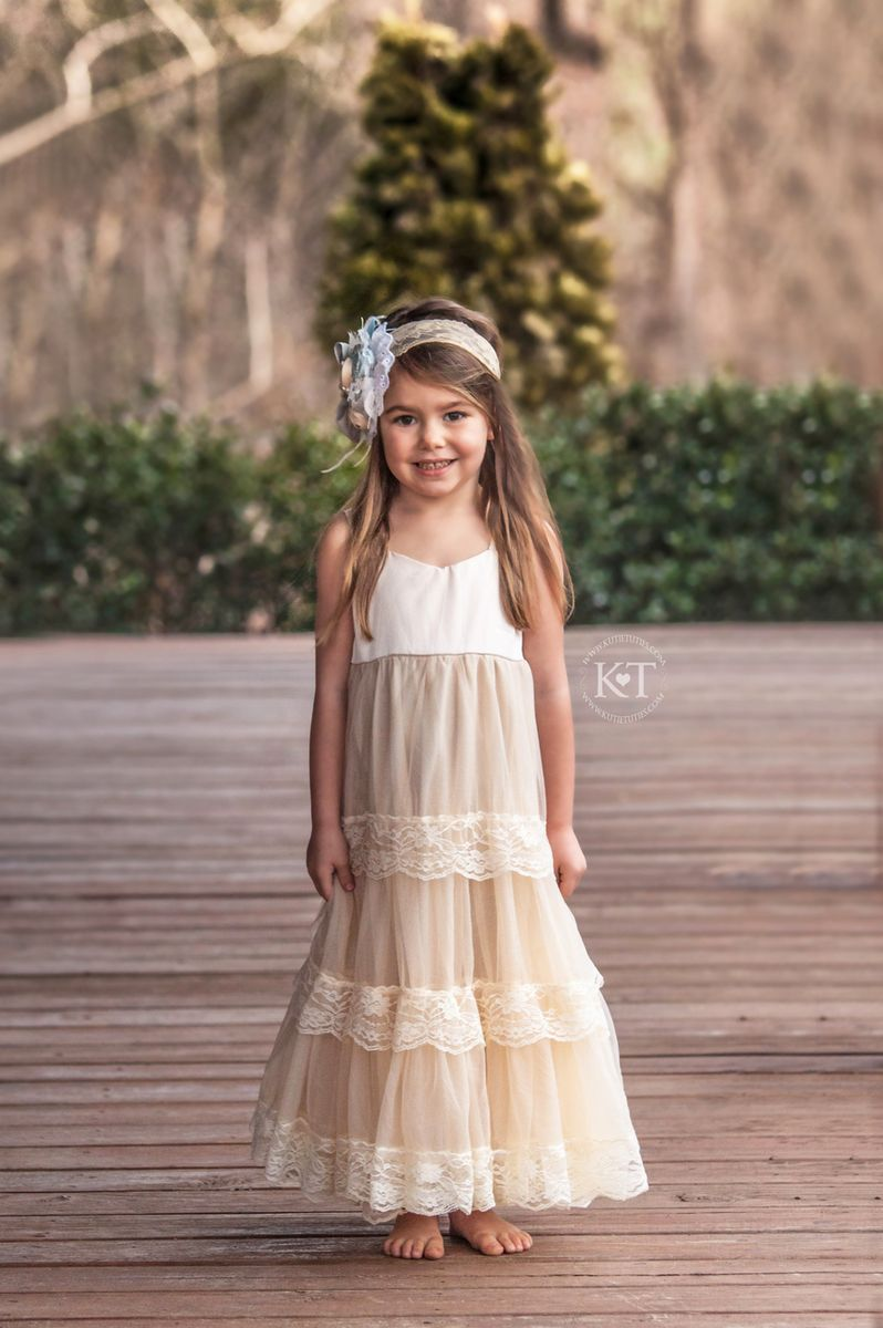 Cream Satin Sweetheart Dress Flower Girl Dress Lace Flower Girl Dresses Flower Girl Dresses Country [ 1200 x 798 Pixel ]