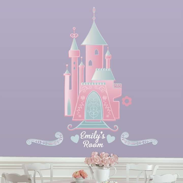 Roommates disney princess personalized castle peel stick wall disney castle with alphabet giant wall stickers bellas little ones buy ergo baby carrier australia and manduca baby carrier personalised baby gifts negle Choice Image