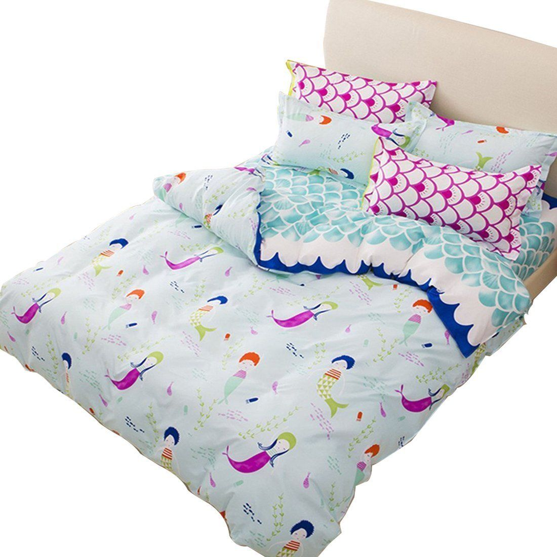 sookie duvet cover set with 2 pillow shams blue duvet