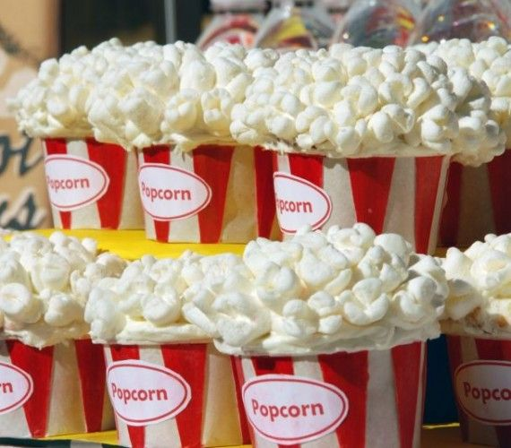 Popcorn Cupcakes For Dessert Table At Theater Wedding