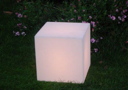"""You can stack them or sit on them.  Amazon.com: Outdoor LED Light Cube 17"""" - Cordless with remote control: Patio, Lawn & Garden"""