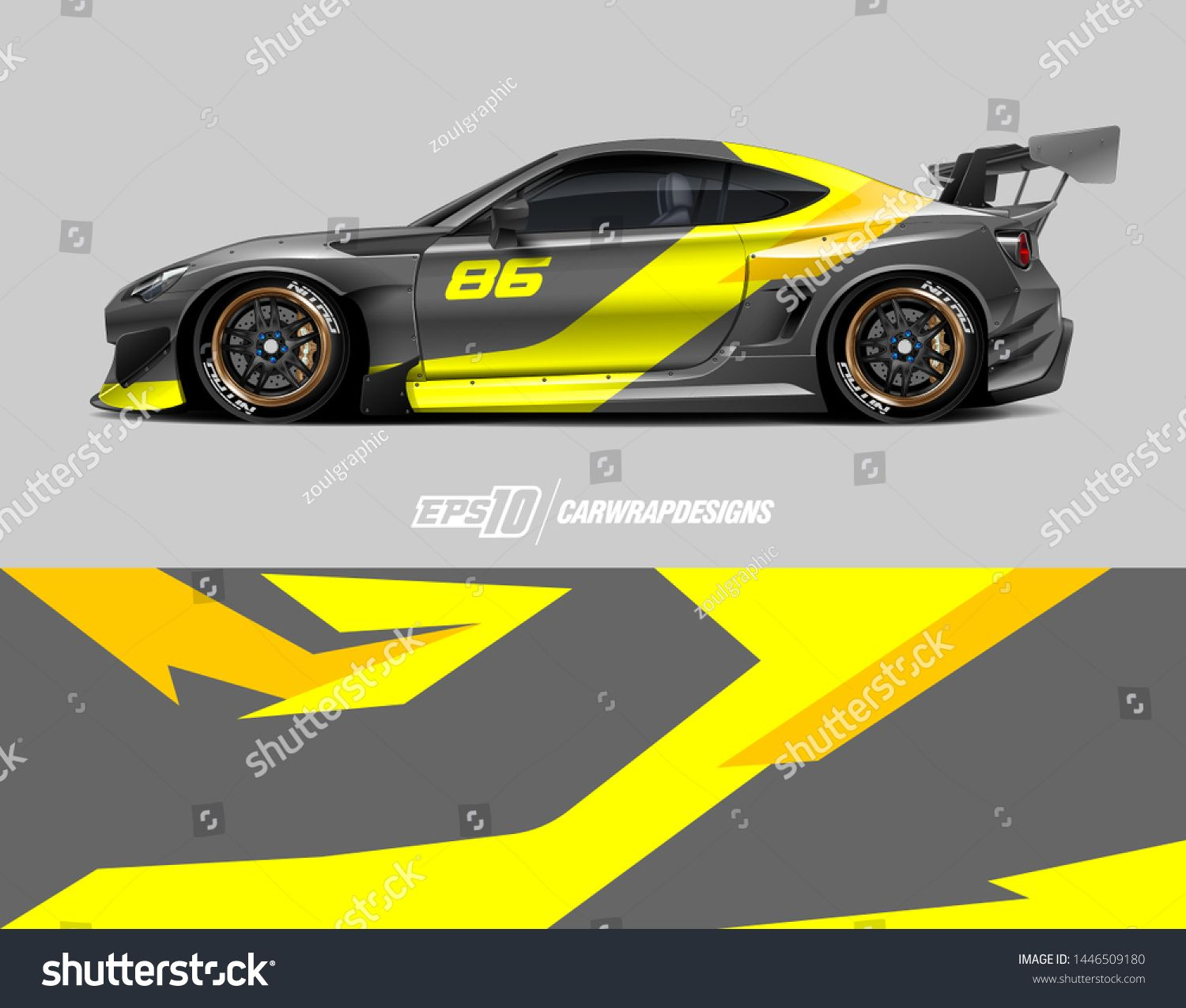 Car Wrap Design Concept Abstract Racing Background For Wrapping
