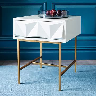 Sculpted Geo Side Table Westelm Modern Accent Tables Furniture