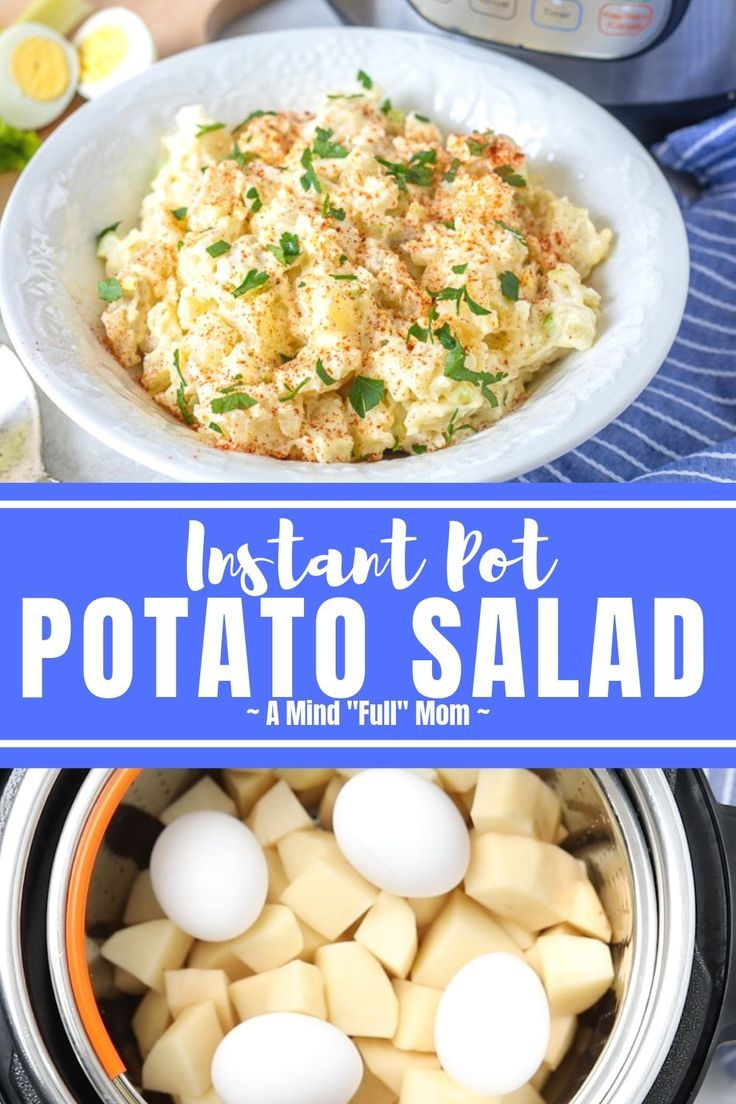 Make Classic Potato Salad in a fraction of the time in the the Instant Pot This  Instant pot recipes