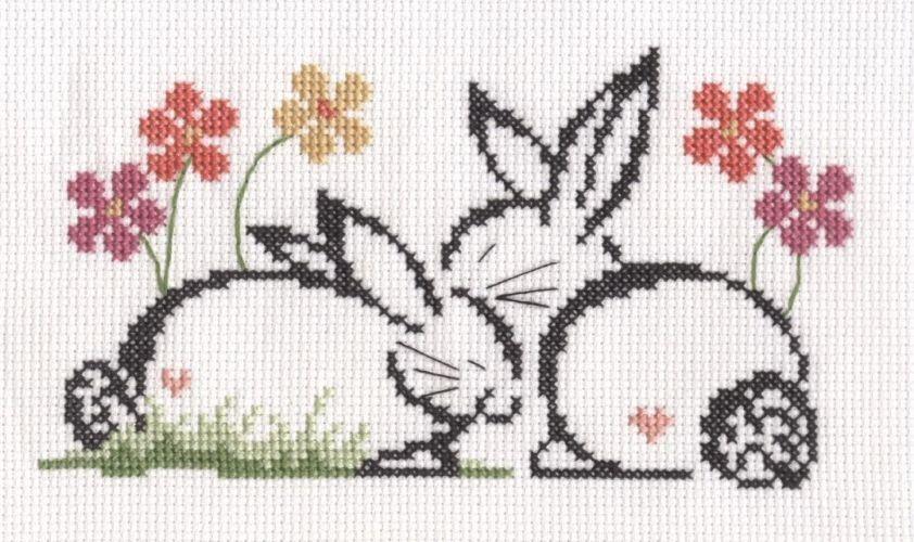 Conigli innamorati | Punto croce - Schemi | Pinterest | Punto de ...
