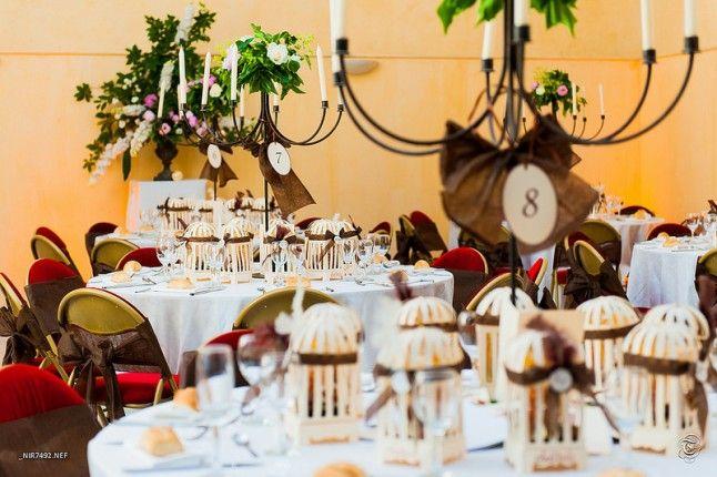 Le mariage participatif et traditionnel d ornella aux for Deco cage a oiseaux