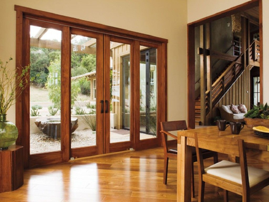 Panel sliding patio doors design interior with perfect for Patio doors with side panels