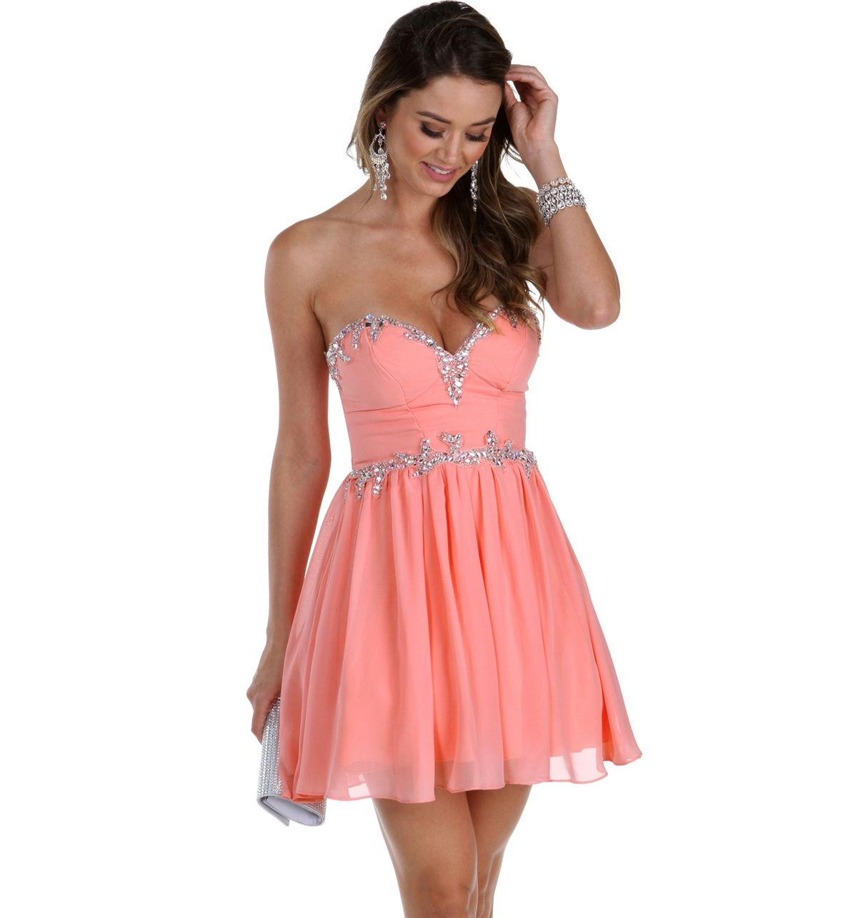 Leigh peach prom dress prom and homecoming pinterest peach