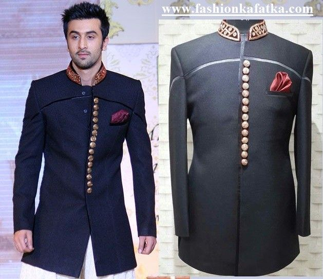 Ranbir Kapoor Designer Sherwani Indian Groom Wear Indian Men Fashion Designer Suits For Men