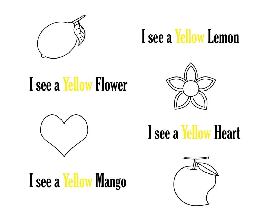 Yellow Coloring Pages Printables
