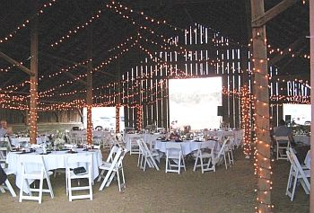 Red Barn Inside Yolo Land Cattle Outdoor Wedding