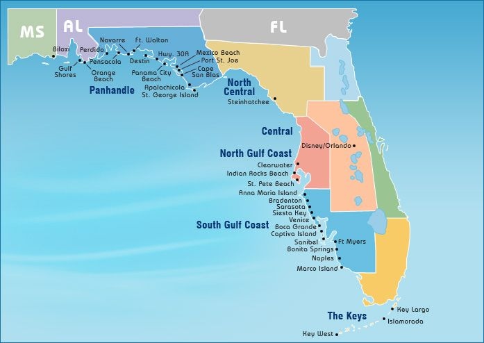 Florida and Alabama Gulf Coast Beach Vacation Rentals | Gulf ...