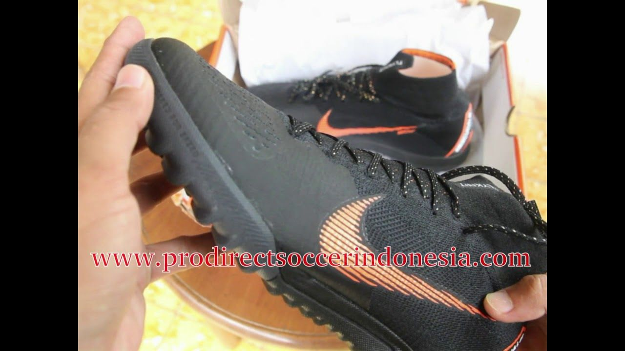 Sepatu Futsal Nike Superflyx 6 Elite Tf Black Total Orange
