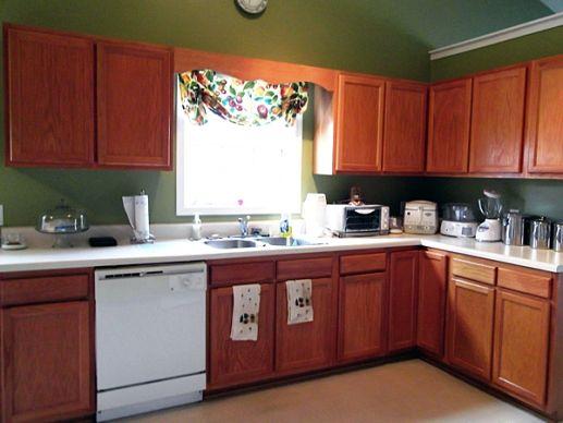 Kitchen Cabinets. Orange Color Design Of Mobile Home ...