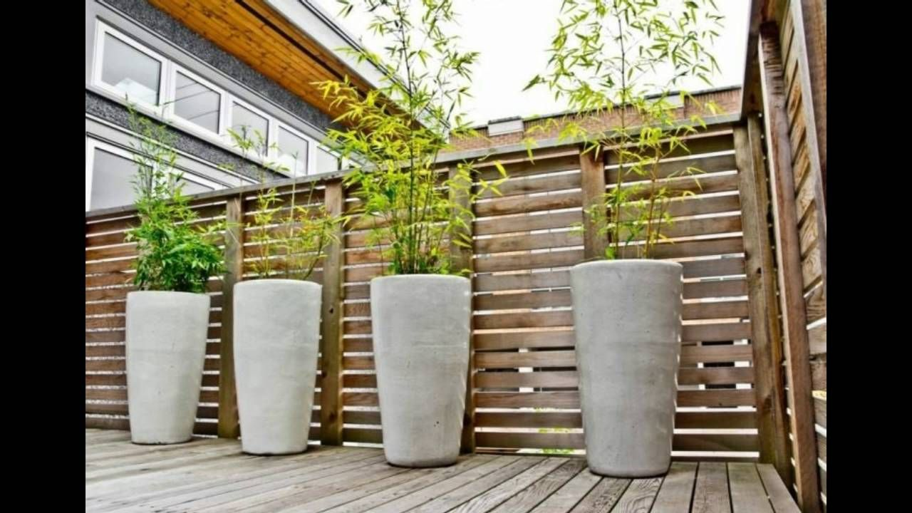 Decorar Patios Y Terrazas Con Cañas De Bambu Patio Moderno