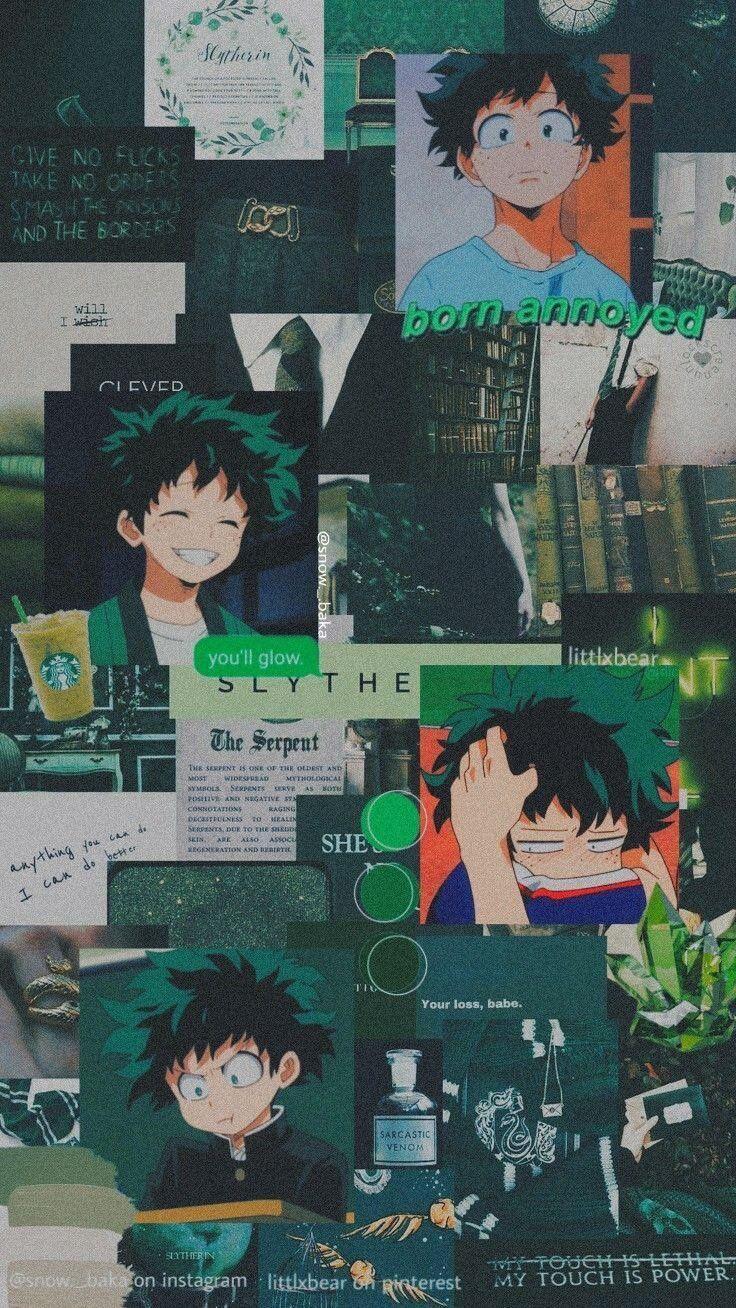 Green Aesthetic Wallpaper In 2020 Hero Wallpaper Anime Anime Characters