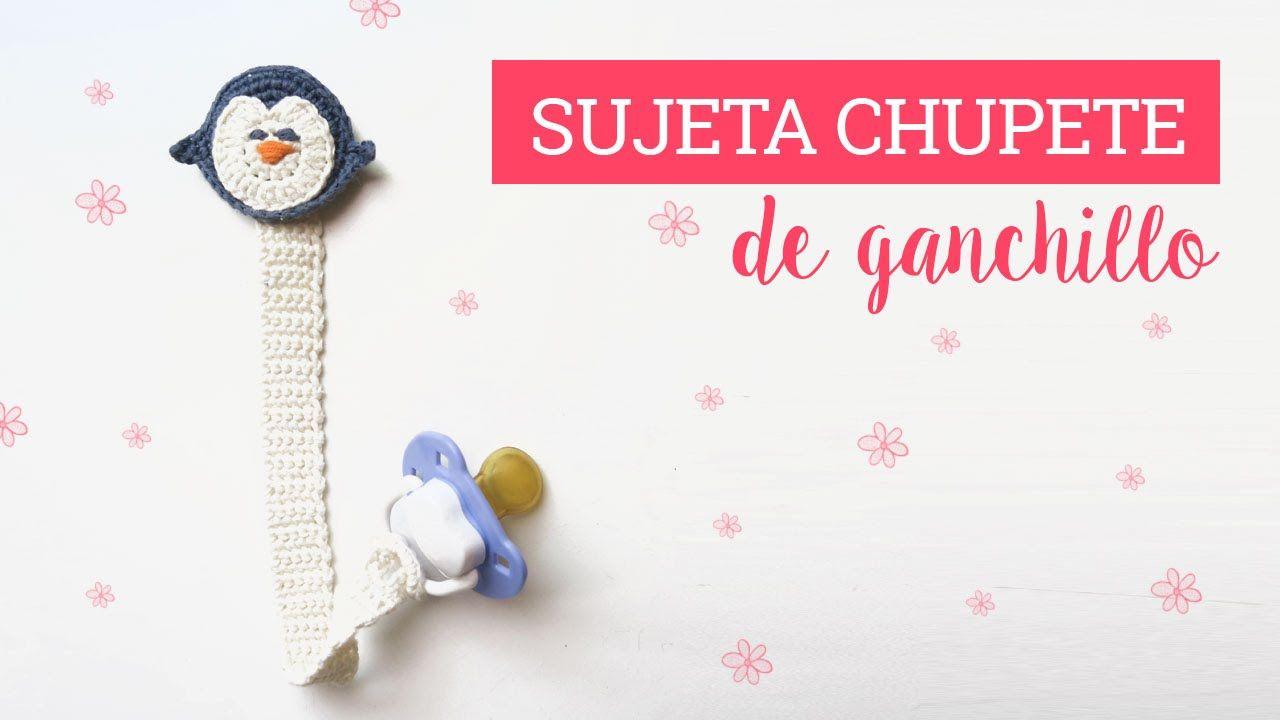 Como hacer un sujeta chupete de ganchillo | Crochet pacifier clip ...