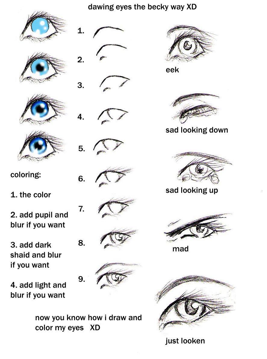 Female Eyes Drawing Step By Step  How To Draw Eyes My Way Heehee By  Gabrielleswings
