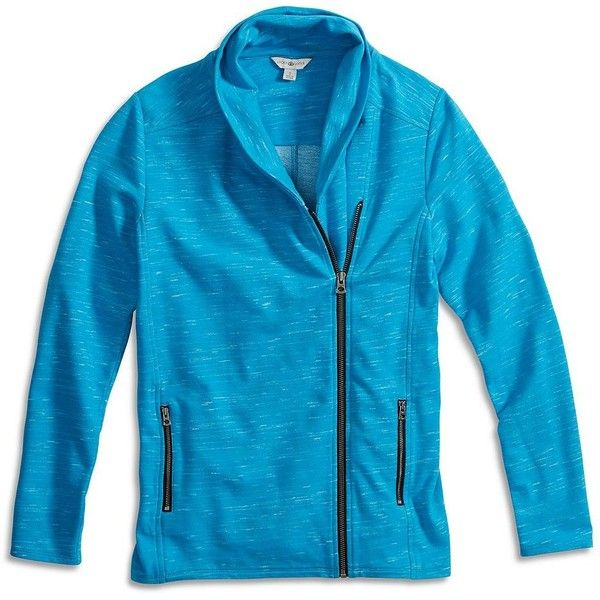 Lucky Brand Space Dye Zipper Jacket ($60) ❤ liked on Polyvore featuring outerwear, jackets, blue open, lucky brand jacket, blue jackets, zipper jacket, zip jacket and blue zipper jacket