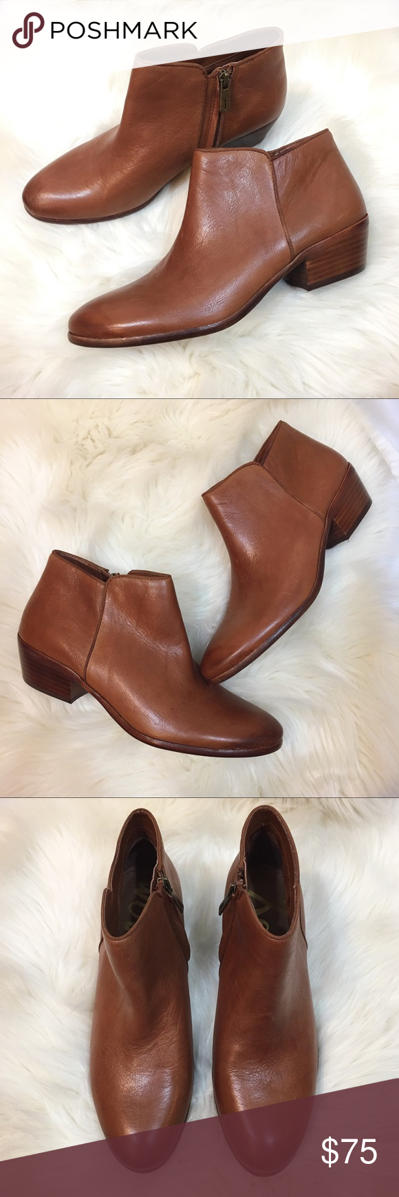 2658f4bcc19155 Sam Edelman petty ankle boots brown saddle leather The perfect booties for  fall! These Sam Edelman petty brown leather boots are in great condition  and were ...
