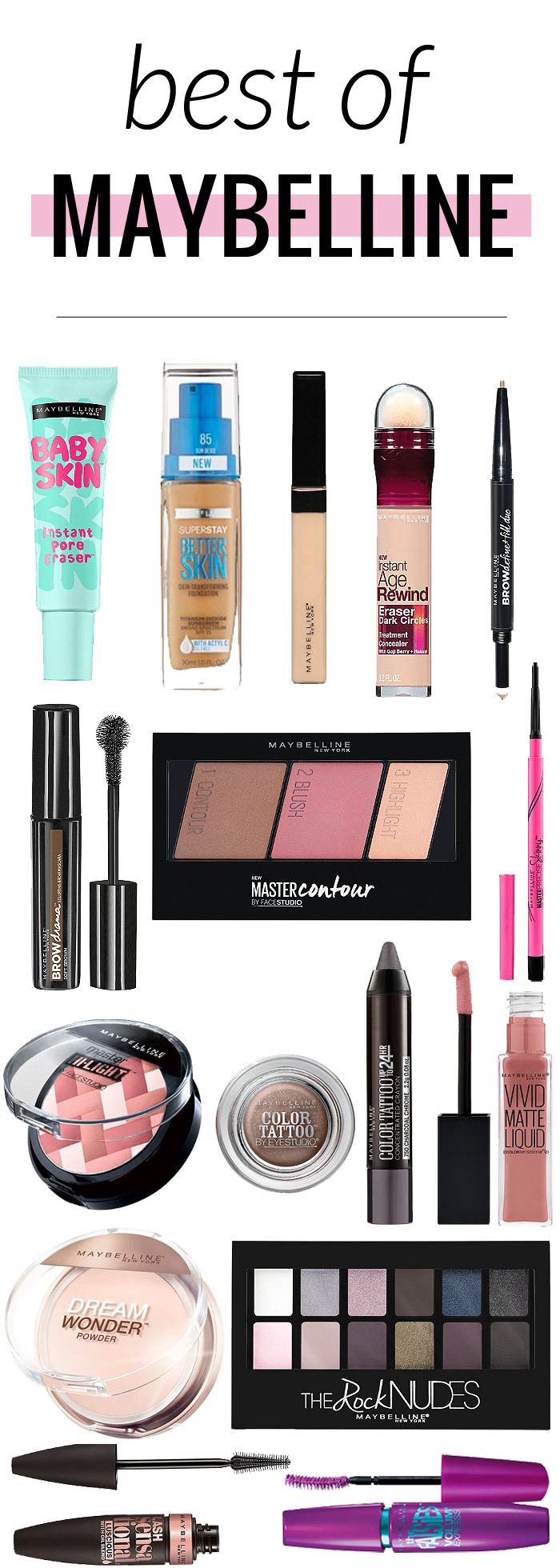 One Brand Makeup Look Maybelline Makeup Maybelline