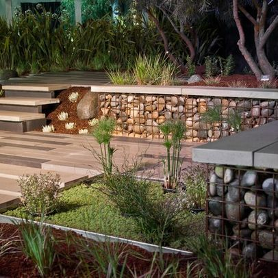 Gabion Design Ideas Pictures Remodel And Decor Modern Landscaping Gabion Wall Gabion Wall Design