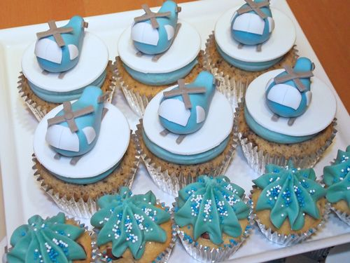 Mini helicopter cupcakes - Beach House Bakery, cakes and cupcakes in Bristol and the West Country